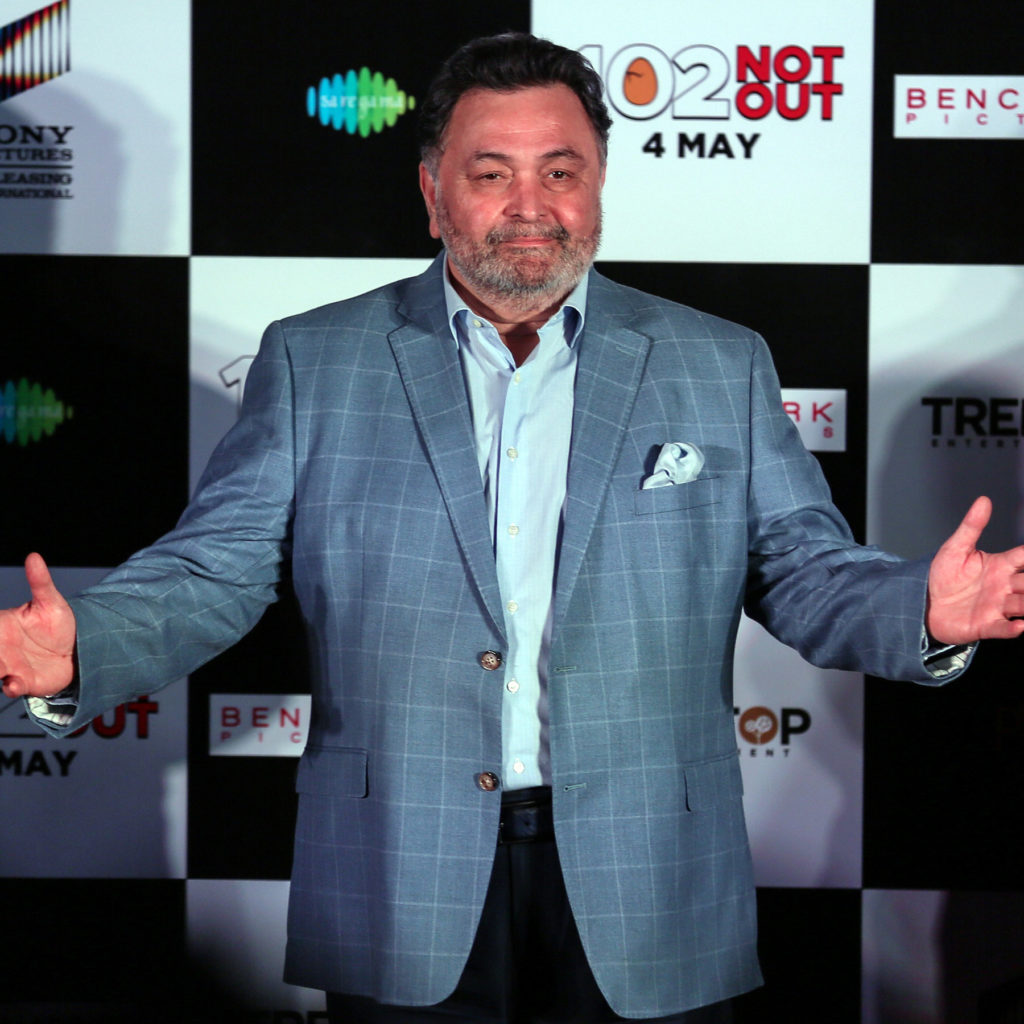 Rishi Kapoor on stage