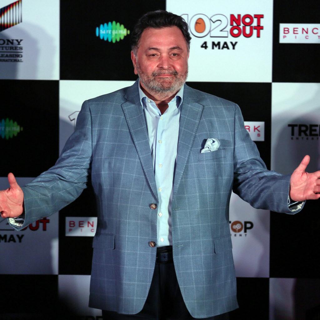 Rishi Kapoor on stage
