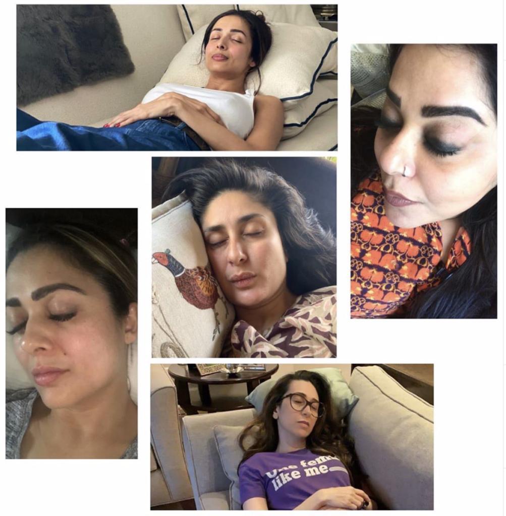 Malaika Arora and friends sleeping